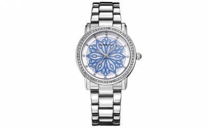 Ceas dama Crrju Fashion Silver Blue