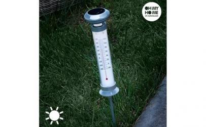 Lampa Solara Termometru Oh My Home