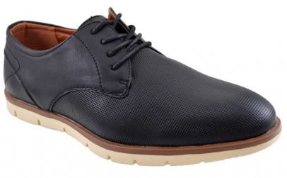 Pantofi negri barbati perforati cu