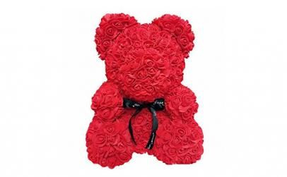 Ursulet  Rose Bear 25 cm rosu