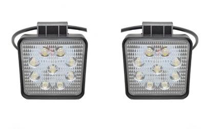 Set 2 proiectoare patrate LED Auto 27W/1