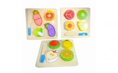 Set 3 Puzzle fructe si legume de feliat