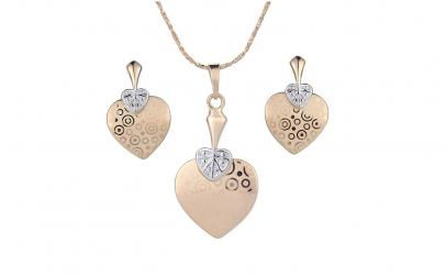Set bijuterii Golden Lovely Heart