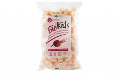 BioKids - Pufuleti BIO cu sfecla rosie,
