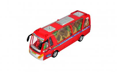 Autobuz cu sunete, lumini si calatori