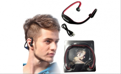Casti Bluetooth sport cu MP3 player