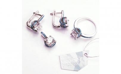 Set bijuterii din Argint cu Turcuaze