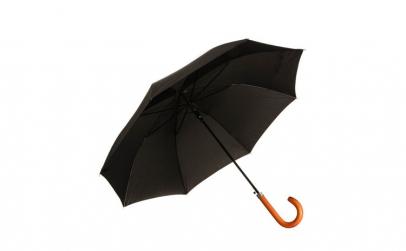 Umbrela neagra tip baston, maner din