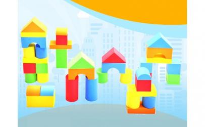 Cuburi de construit din spuma (EVA