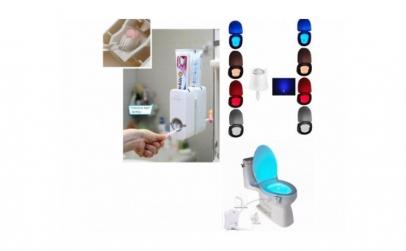 Dozator+Suport periute+Lampa WC