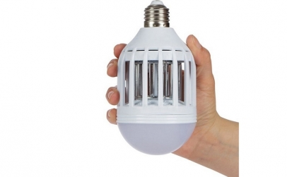 Bec LED 2 in 1 cu lampa UV anti-insecte
