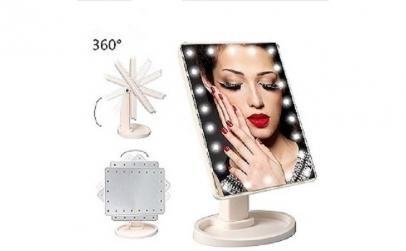 Set oglinda cosmetica + organizator