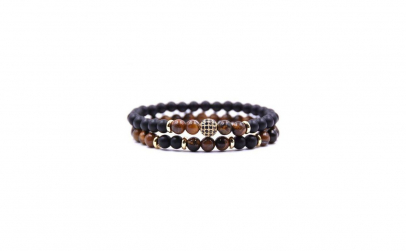 Set doua bratari Tiger Eye