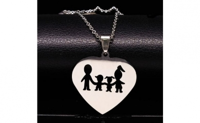 """Colier """"Lovely Family"""" stainless steel"""