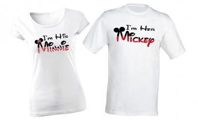 """Set tricouri cuplu """"I'm Minnie/Mickey"""""""