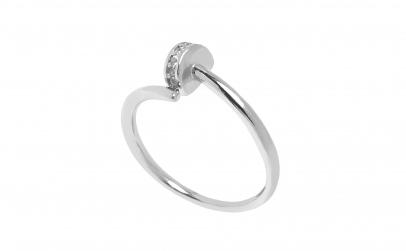 Inel din argint cu zirconii, model Cui