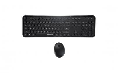 Kit tastatura si mouse optic, Negru