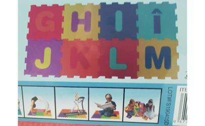 Covor puzzle  litere G,H, I, Î, J, K,L,M