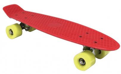 "Skateboard Retro Penny, Rosu, 22"""