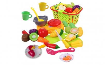 Set jucarii pentru copii cos cu fructe