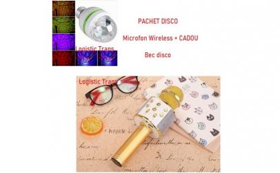 Microfon wireless + Cadou bec disco