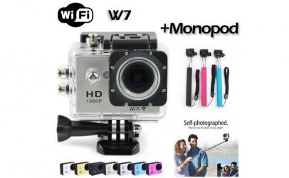 Camera Sport FullHD Wifi + Monopod Selfi
