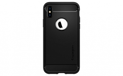 Husa iPhone X/XS, Spigen Rugged Armor,