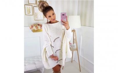 Pulover tricot + Cadou o bijuterie