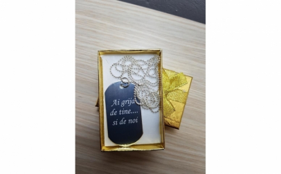 Lantic medalion personalizat