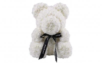 Ursulet  Rose Bear 70 cm alb