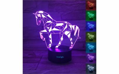 Lampa 3D LED, Cal, 7 culori, USB