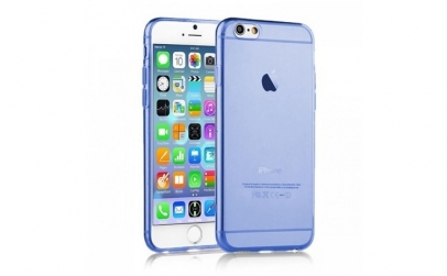 Husa silicon iphone 6 albastra