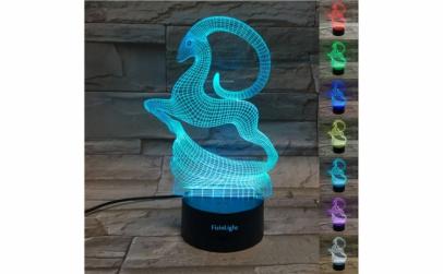 Lampa 3D LED, Capricorn, 7 culori, USB