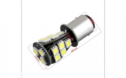 Bec BAY15D 18 LED LUX SMD 5730 doua