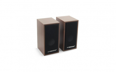 Boxe stereo lemn, 6 WATT, conectare USB