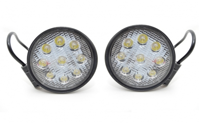Set 2 proiectoare rotunde LED Auto