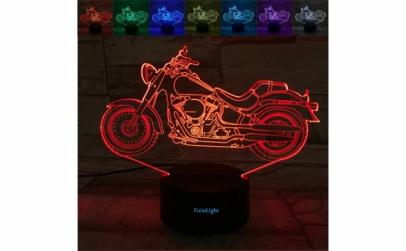 Lampa 3D LED, Motocicleta, 7 culori