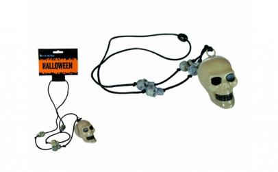 Colier cu craniu  plastic