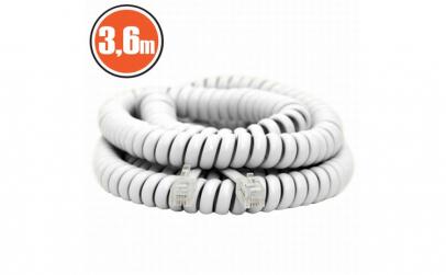 Cablu telefon spiralat4P/4C3,6 m