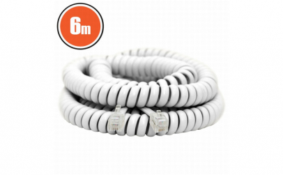 Cablu telefon spiralat4P/4C6 m