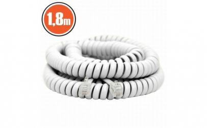 Cablu telefon spiralat4P/4C1,8 m