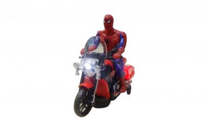 Jucarie Spiderman pe motocicleta