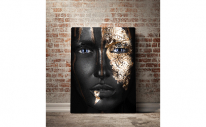 Tablou canvas Gold Face, 70 x 100cm