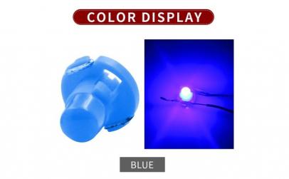 set 2 becuri led T4.7 albastru