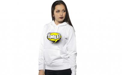 Hanorac dama alb - Smile