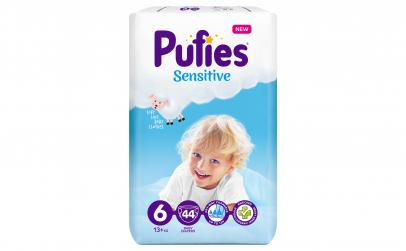 Scutece Pufies Sensitive, 6 Extra Large