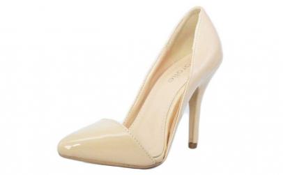 Pantofi dama bej Stiletto - toc 10 cm,