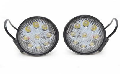 Set 2 proiectoare rotunde LED Auto 27W