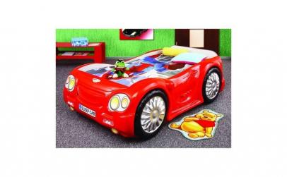 Pat masina copii Sleep Car - Plastiko -