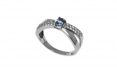 Inel din platina cu diamante